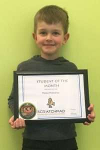 STUDENT OF THE MONTH AUG